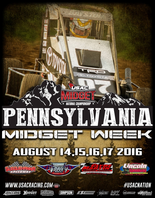 "RAIN WINS SECOND STRAIGHT ""PENNSYLVANIA MIDGET WEEK"" EVENT AT PATH VALLEY"