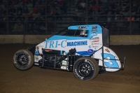 #3c Tanner Thorson on the gas last season at the Southern Illinois Center in Du Quoin.