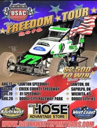 "4-RACE USAC SOUTHWEST ""FREEDOM TOUR"" OPENS WEDNESDAY"