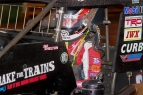 Holly Shelton prepares to hit the track last Saturday, Sept. 24, 2016, at Eldora Speedway.