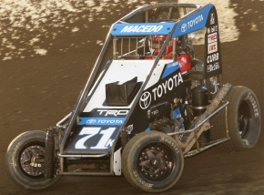 USAC Indiana Midget Championship point leader Carson Macedo.