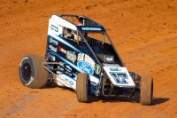 #17w Shane Golobic has closed to within one point behind leader Michael Pickens in the 2017 Indiana Midget Week heading into Sunday's finale at Kokomo.