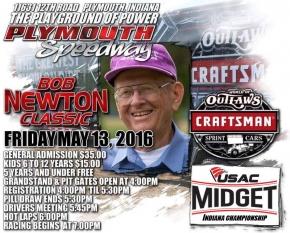 PLYMOUTH'S BOB NEWTON CLASSIC WELCOMES USAC INDIANA MIDGETS FRIDAY