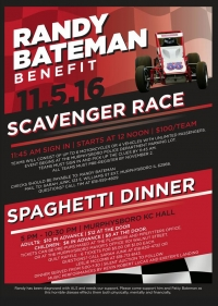 RANDY BATEMAN BENEFIT SCAVENGER RACE, AUCTION & DINNER TO BE HELD NOV. 5 IN MURPHYSBORO, IL