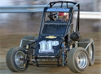 "Chett Gehrke, the Speed 2 ""Summer Sizzle Series"" point leader, won Saturday night's USAC IMRA Midget feature at 34 Raceway in Burlington, Iowa."