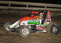 Brady Bacon won Thursday's opening round at Bubba Raceway Park before rain washed out Friday's program.