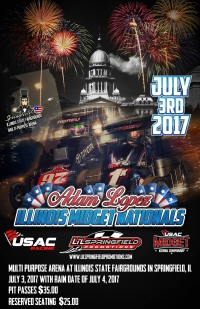 RACEDAY INFO: USAC Midgets at Illinois State Fairgrounds Multi-Purpose Arena - July 3, 2017