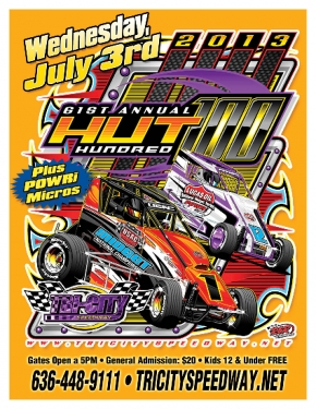 "TRI-CITY'S JULY 3 ""HUT HUNDRED"" OPENS BUSY USAC WEEK"