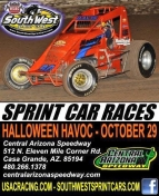 "SOUTHWEST SPRINTS HEAD FOR CENTRAL ARIZONA SPEEDWAY SATURDAY; DAVIS WINS ""HANK ARNOLD MEMORIAL"""