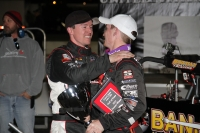 Kody Swanson congratulates brother Tanner after their 1-2 finish at LOR in May.