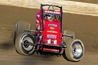 "Lincoln, Indiana's Dave Darland is one of two drivers who've won the ""Oval Nationals"" at Perris (Calif.) Auto Speedway three times."
