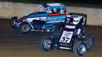 Two-time IMRA champ Andy Baugh (#37) battles Adam Taylor (#7T) for position last season.