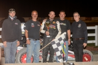 Adam Pierson and his crew celebrate his 10th consecutive DMA Midget win!