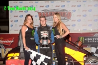 Trey Marcham celebrates after winning at Bakersfield.