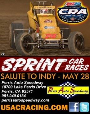 "ROA EYES PERRIS' ""SALUTE TO INDY"" SATURDAY"