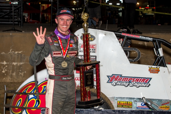 Kody Swanson won an unprecedented fourth USAC Silver Crown title in 2018.