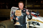 R.J. JOHNSON SPRINTS TO PERRIS USAC/CRA WIN
