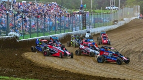 USAC NOS Energy Drink National Midgets invaded Caney Valley Speedway in Kansas for the first time in 2020.