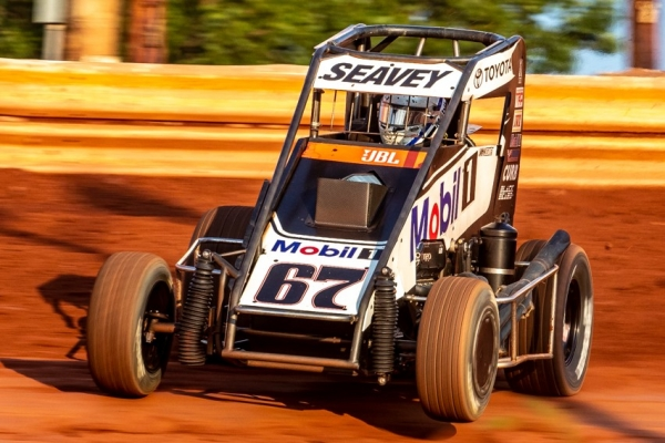 USAC National Midget point leader Logan Seavey of Sutter, Calif.