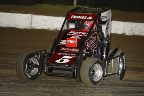 #5 Kevin Thomas, Jr. led all drivers on practice night.