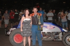Jimmy Trulli poses after winning Thursday's race at Chico.