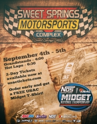 EVENT INFO: 9/5/2020 SWEET SPRINGS USAC MIDGETS
