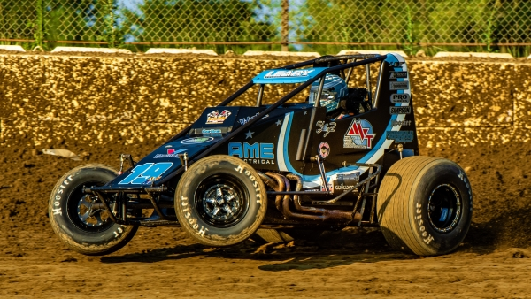 USAC AMSOIL National Sprint Car point leader #19AZ C.J. Leary of Greenfield, Ind.