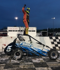 Jessica Bean reaches her 10th USAC victory.