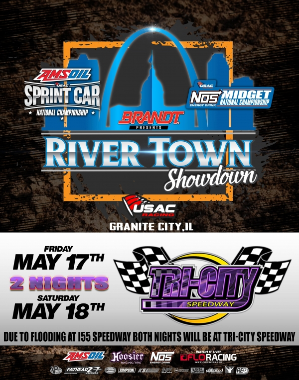 USAC RIVER TOWN SHOWDOWN SHIFTS TO TWO-STRAIGHT NIGHTS IN GRANITE CITY MAY 17-18