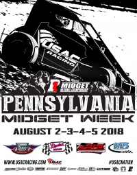 THURSDAY'S PA MIDGET WEEK OPENER AT PATH VALLEY RAINED OUT