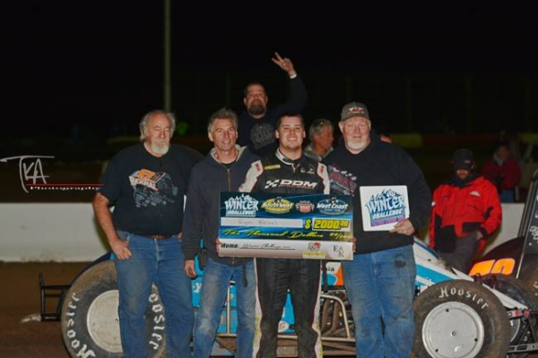 Ryan Bernal and crew celebrate Saturday's victory at Peoria.