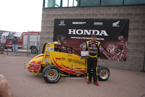 Tracy Hines wins in the Midgets at Pikes Peak!