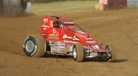 Jerry Coons, Jr. bends the Edison Motorsports #10E into turn three at Terre Haute.