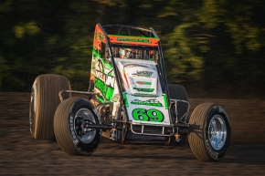Kevin Thomas, Jr. scored his sixth USAC AMSOIL National Sprint Car feature victory of the year Friday night at Gas City, moving himself into the top-20 all-time in series wins with 23, equaling legends A.J. Foyt and Roger McCluskey.