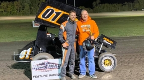 Saturday's Gas City Winner Ryan Moran