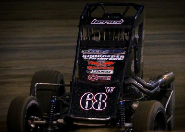 Ryan Bernal on his way to the California Midget Week title.