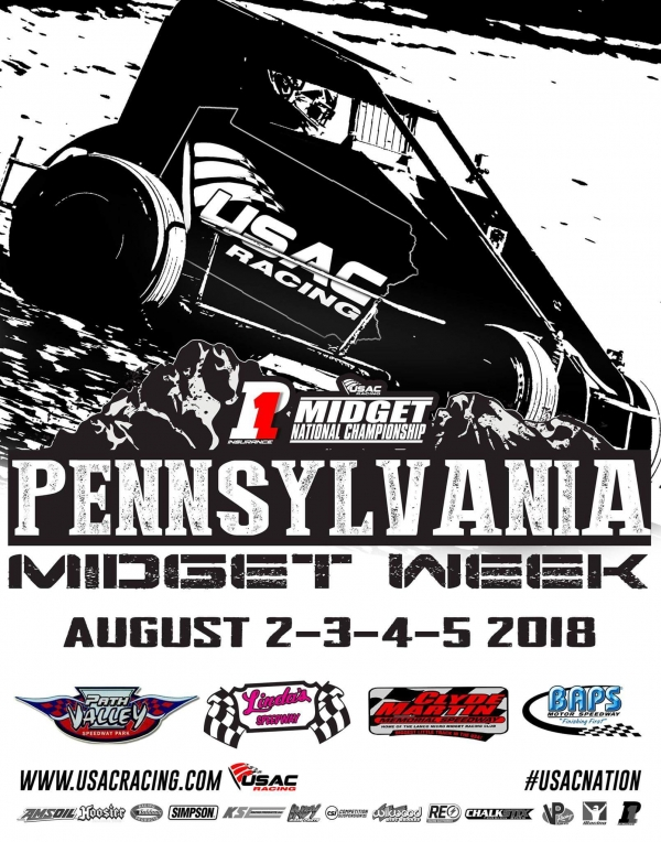 FRIDAY'S PA MIDGET WEEK RACE AT LINDA'S RAINED OUT