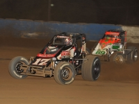 "Kevin Thomas, Jr. held off Brady Bacon and all other challengers to win Wednesday night's ""Don Smith Classic"" at Terre Haute."