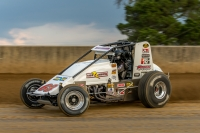 "Kody Swanson won Sunday night's ""Ted Horn 100"" at the Du Quoin (Ill.) State Fairgrounds, site of his first carrer USAC Silver Crown victory in 2010."