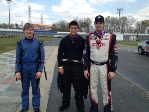 Chirs Lamb, Blaine Leydig and Tyler Corriher 1-2-3 in first Ace Feature.