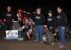 HINES' GAS CITY SPRINT CAR SCORE IS 46TH CAREER WIN, TYING HEWITT
