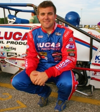 2005 USAC National Sprint Car champion Levi Jones of Olney, Illinois