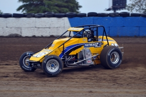 AMSOIL USAC/CRA Sprint car point leader Mike Spencer of Temecula,