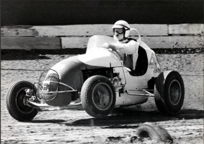 Parnelli Jones during action at Ascot Park in the 1960s.