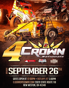 """4-CROWN"" NEXT FOR MIDGETS SEPTEMBER 26"