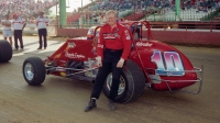1992 USAC Silver Crown champion Steve Butler at the Magic Mile of the Du Quoin (Ill.) State Fairgrounds.