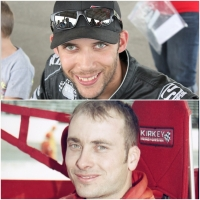 Bryan Clauson (top) and Dave Steele (bottom) were announced as 2018 inductees into the National Sprint Car Hall of Fame.