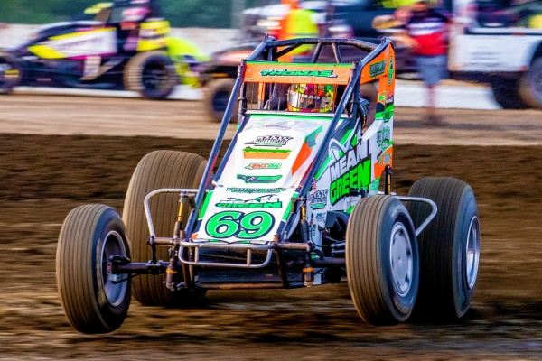 USAC AMSOIL National Sprint Car point leader Kevin Thomas, Jr.