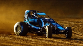 USAC AMSOIL National Sprint Car point leader C.J. Leary.