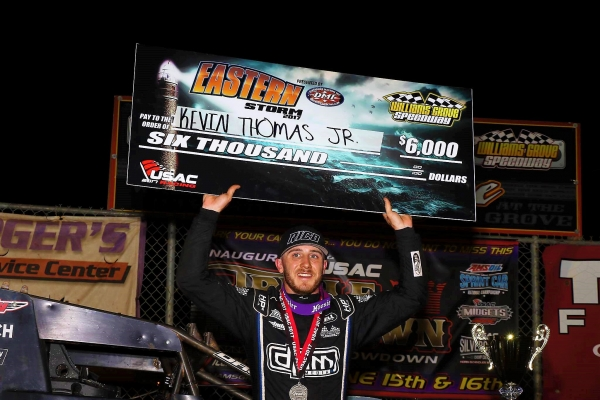 THOMAS' BELATED BIRTHDAY PRESENT DELIVERED AT WILLIAMS GROVE